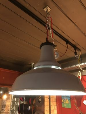 Industrial Benjamin Enamel Light Fitting